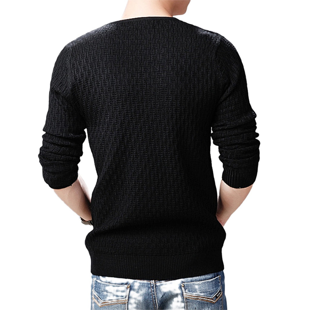 Diamond V-Neck Pullover