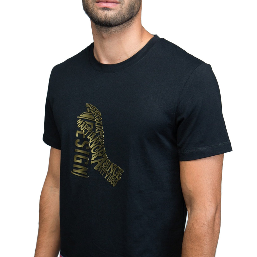 Metallic Spray Can Graphic T-Shirt