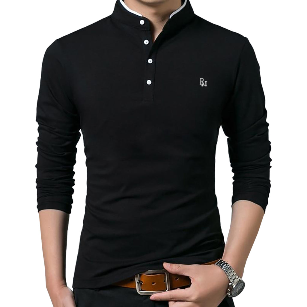 Polomano Embroidered Long Sleeve Polo Shirt