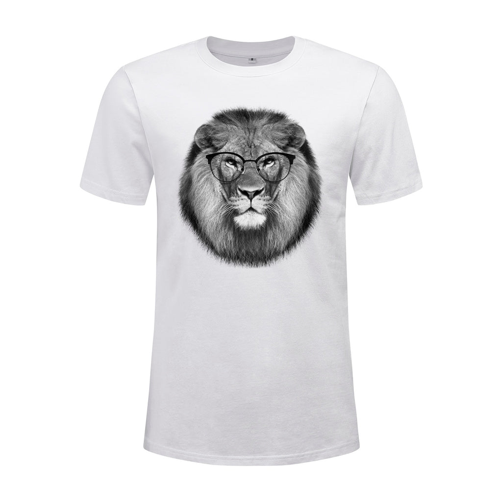 Round Glasses Lion T-Shirt