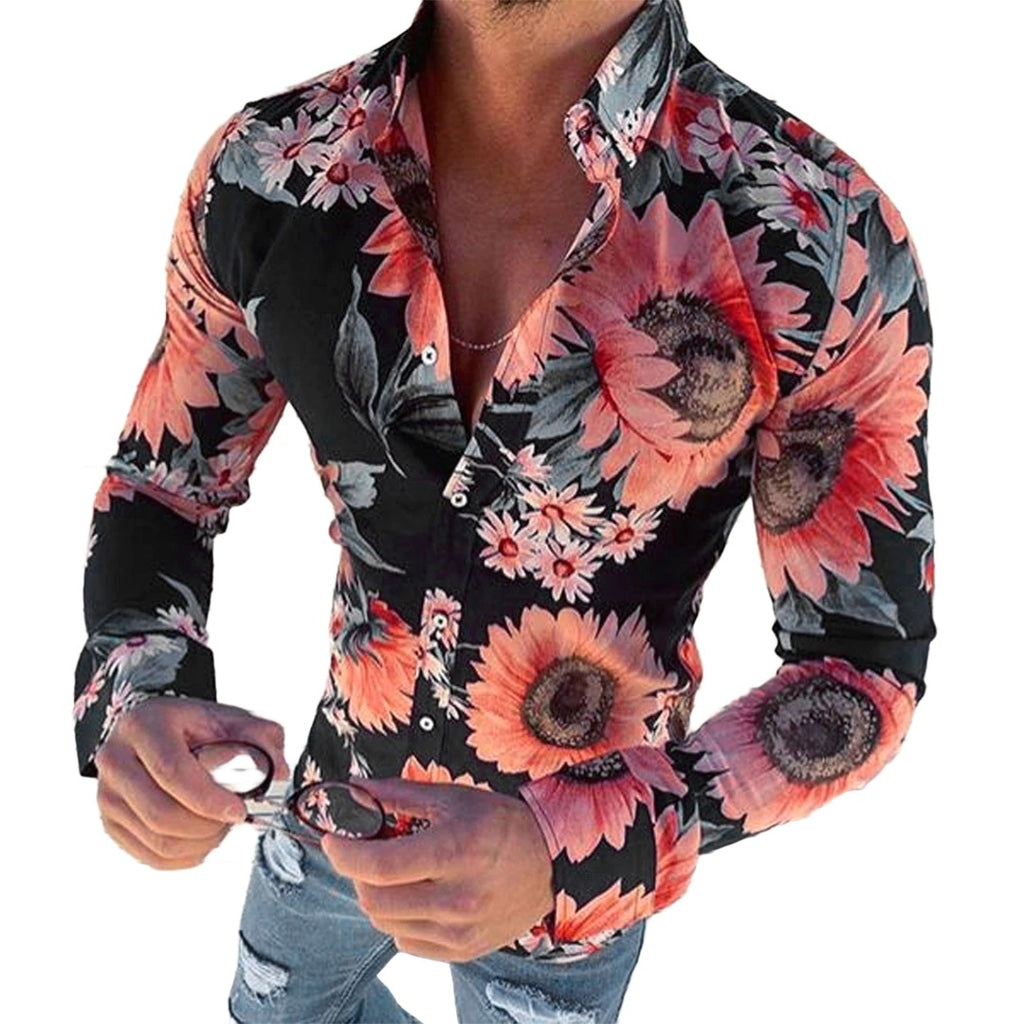 Floral Long Sleeve Button-Down Shirt