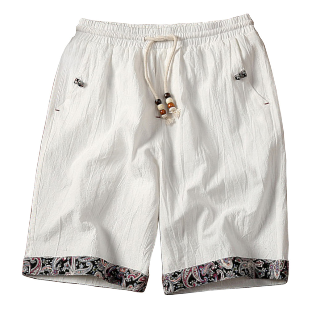 Casual Cotton Linen Blend Shorts