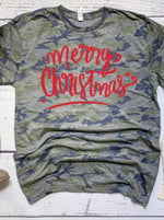 Load image into Gallery viewer, Camo Christmas Tee