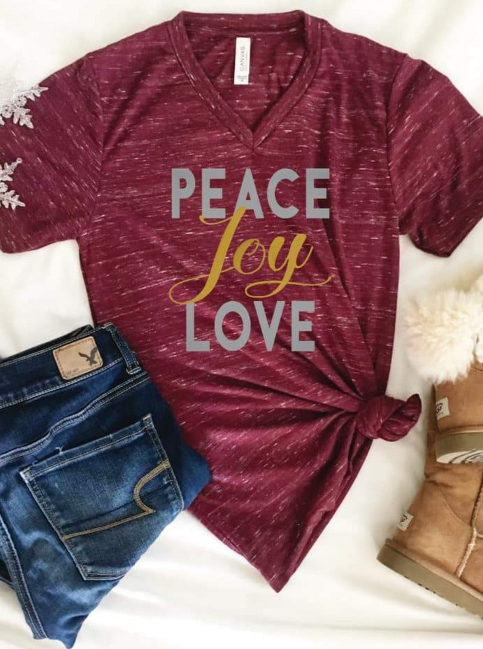 Peace Love Joy Tee