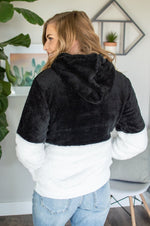 Load image into Gallery viewer, Black Sherpa Hoodie