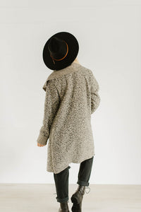 Oatmeal Open Front Jacket