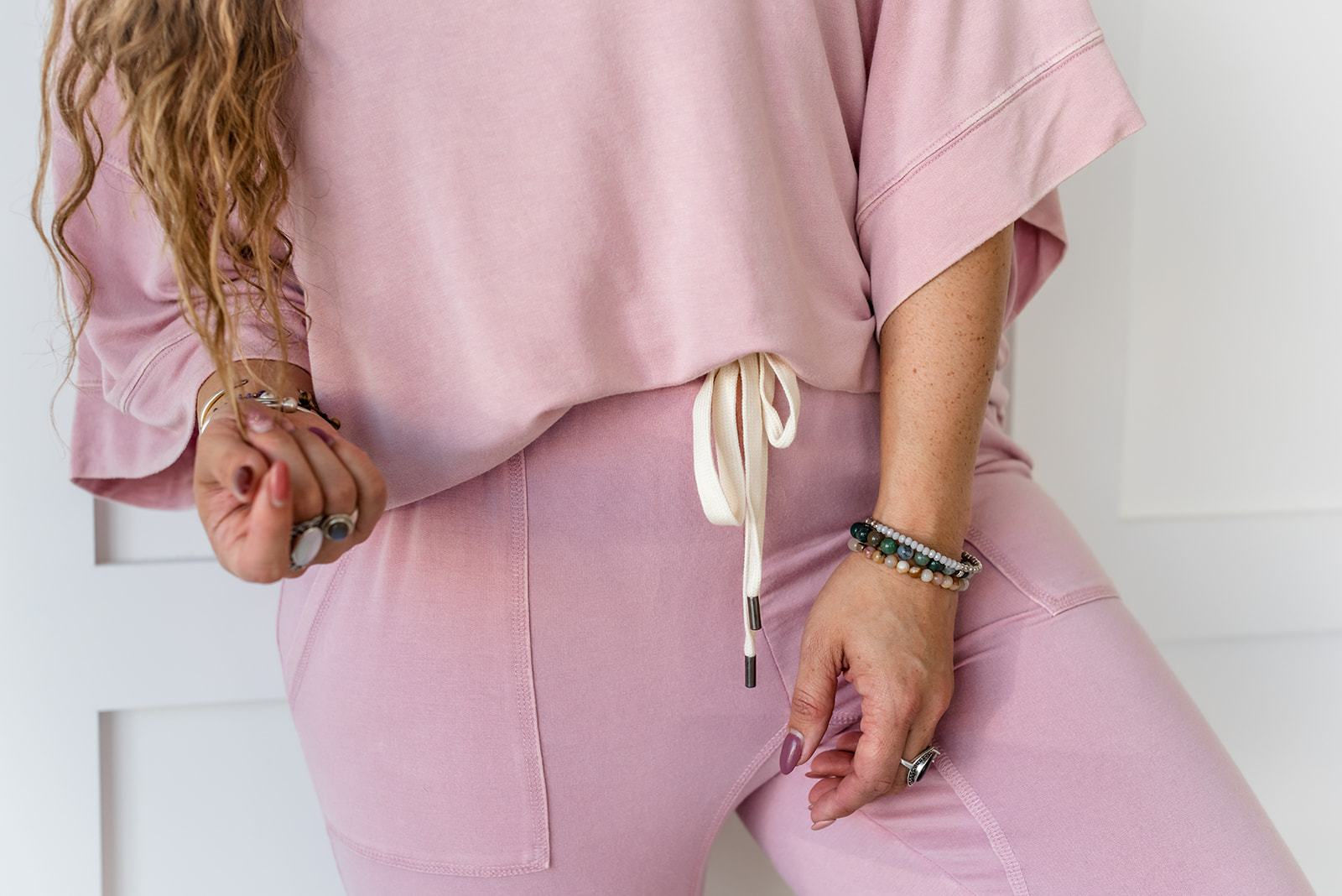 Pink French Terry Lounge Top