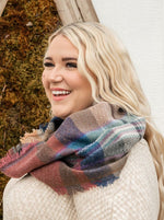 Load image into Gallery viewer, Plaid Infinity Scarf