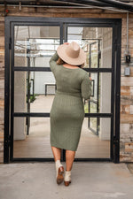 Load image into Gallery viewer, Olive Sweater Dress