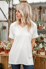 Load image into Gallery viewer, Basic White V-Neck Top