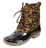 Load image into Gallery viewer, Leopard Duck Boots