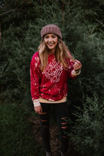 Load image into Gallery viewer, Holly Jolly Christmas Bleached Sweatshirt