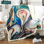 Load image into Gallery viewer, Plush Geode Print Blankets