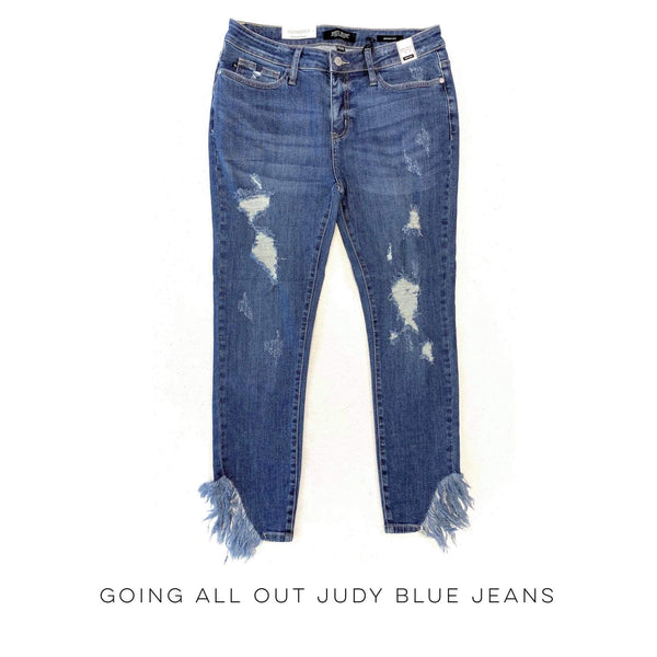 Going All Out Judy Blue Skinny Jeans