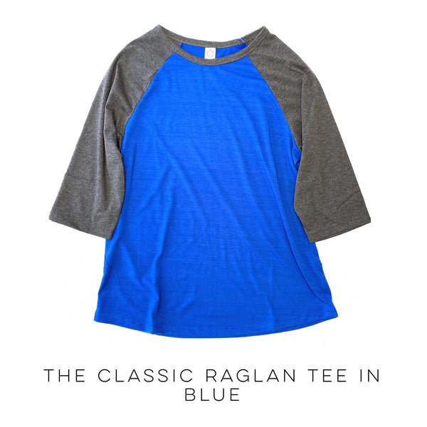 The Classic Raglan Tee in Blue
