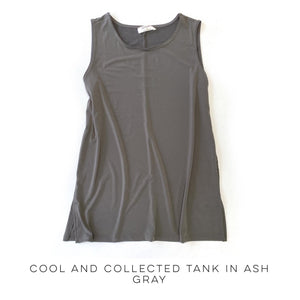 Cool & Collected Tank in Ash Gray