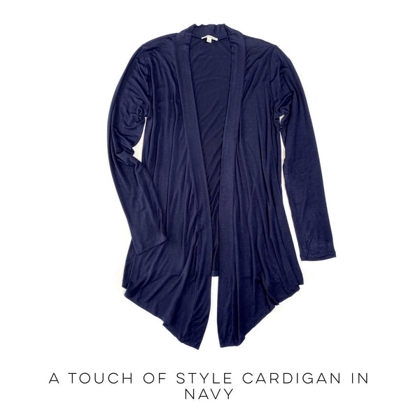 A Touch of Style Cardigan in Navy