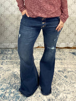 Load image into Gallery viewer, KanCan Button Fly Flare Jeans