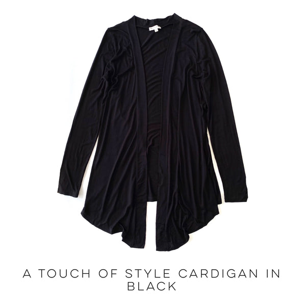 A Touch of Style Black Cardigan