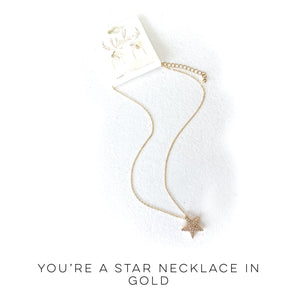 You're a Star Necklace in Gold