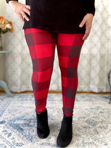 Made for Me Leggings in Plaid