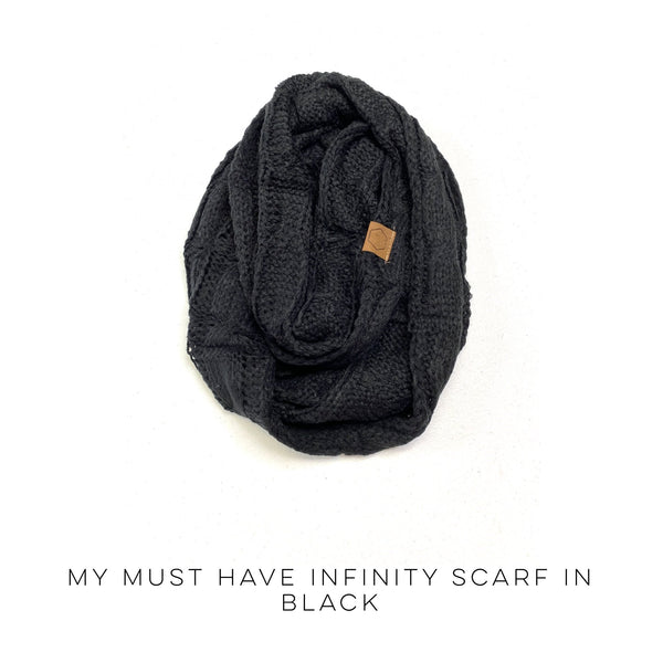 My Must Have Infinity Scarf in Black