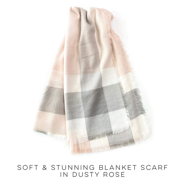 Soft & Stunning Blanket Scarf in Dusty Rose