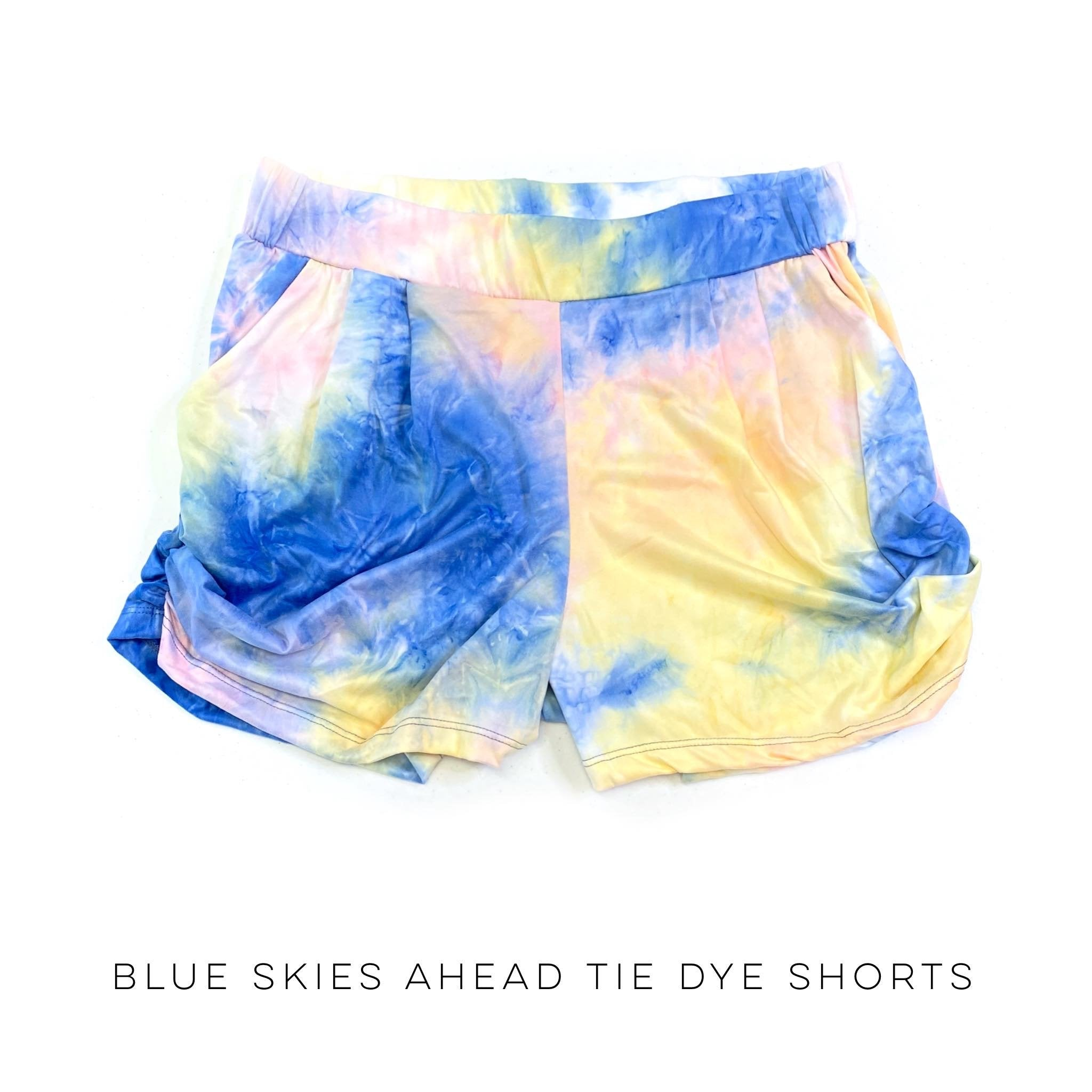 Blue Skies Ahead Tie Dye Shorts