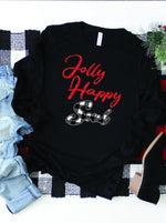 Load image into Gallery viewer, Jolly Happy Soul Long Sleeve Christmas Tee