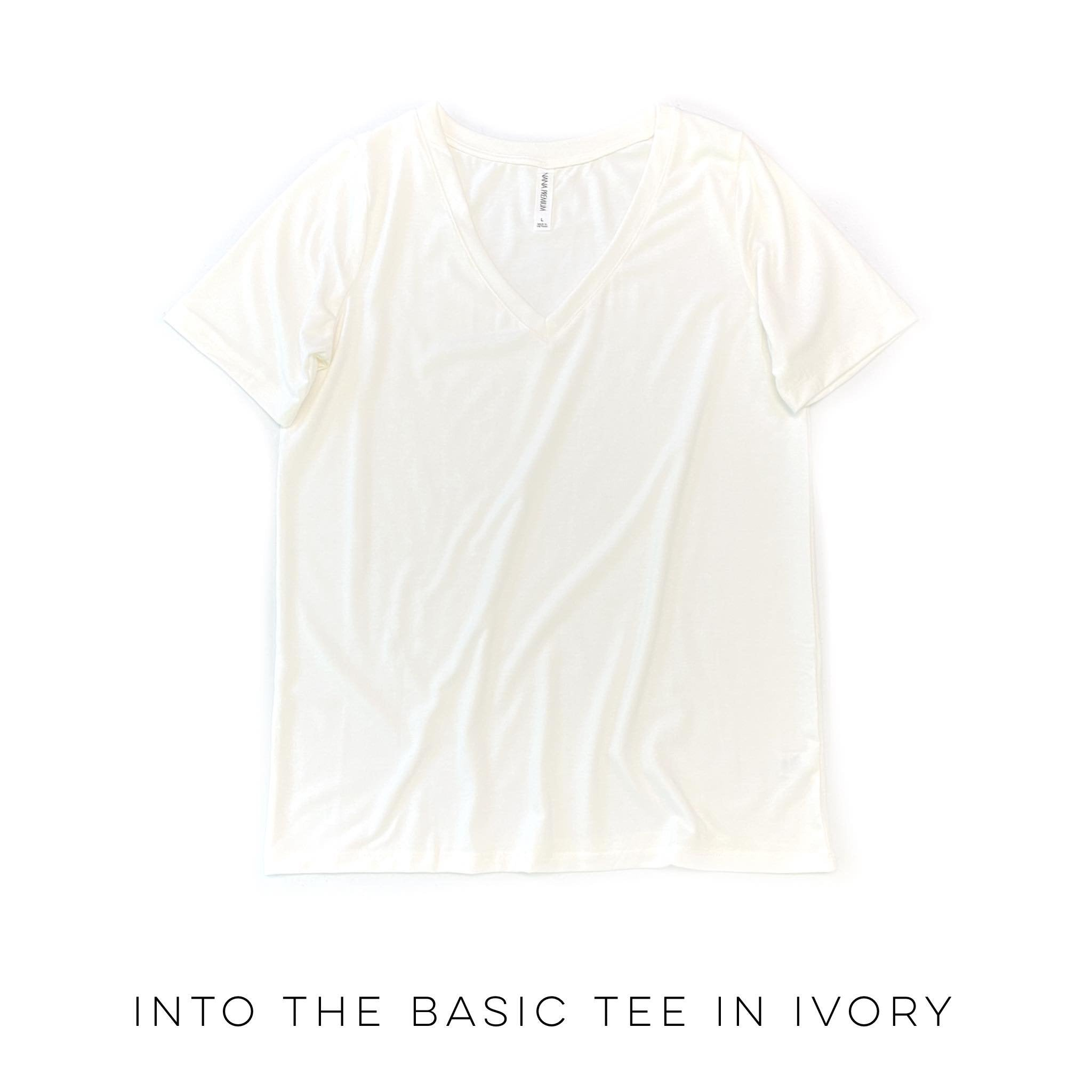 Into the Basic Tee in Ivory