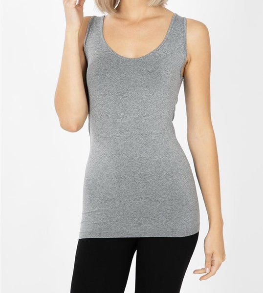 My Perfect Layering Tank in Heathered Gray