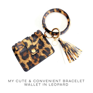Bracelet Wallet in Leopard