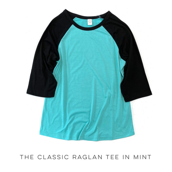 The Classic Raglan Tee in Mint