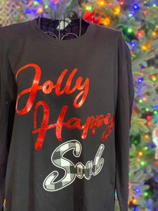 Jolly Happy Soul Long Sleeve Christmas Tee