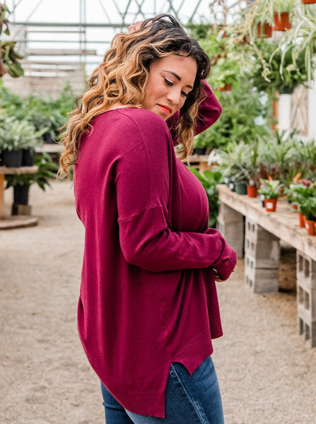 Recognized Perfection Sweater- Maroon