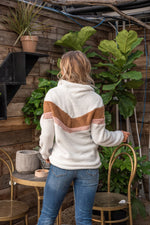 Load image into Gallery viewer, Chevron Sherpa Pullover