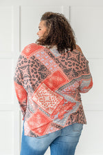 Load image into Gallery viewer, Long Sleeve Bandana Print Top