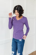 Load image into Gallery viewer, Lilac Long Sleeve v neck Top