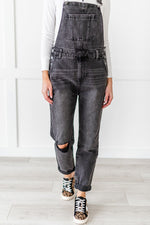 Load image into Gallery viewer, Gray Denim Overalls