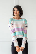 Load image into Gallery viewer, Lightweight Striped Sweater