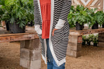 Load image into Gallery viewer, Black Striped Cardigan