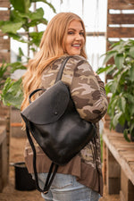 Load image into Gallery viewer, Vegan Leather Backpack