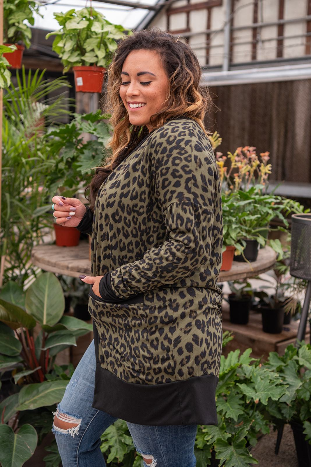 It's A Staple Open Leopard Cardigan