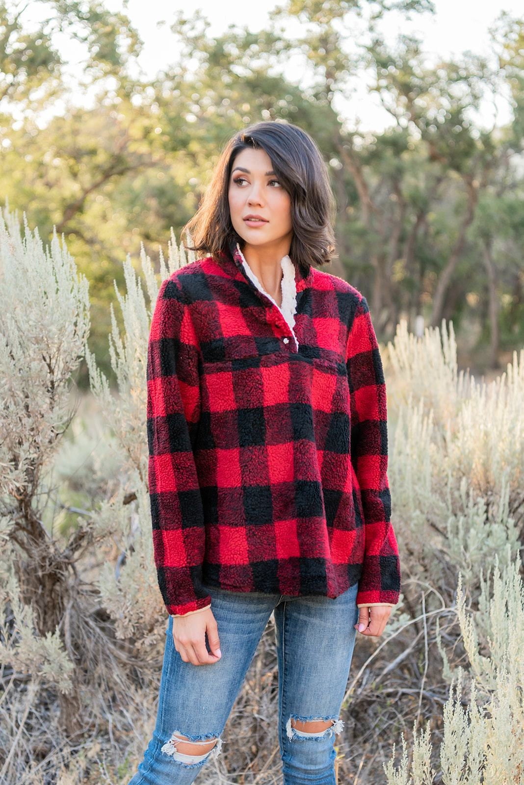 Buffalo Plaid Pullover
