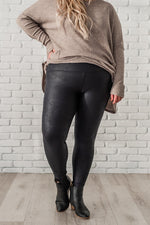 Load image into Gallery viewer, Black Leopard Print Leggings