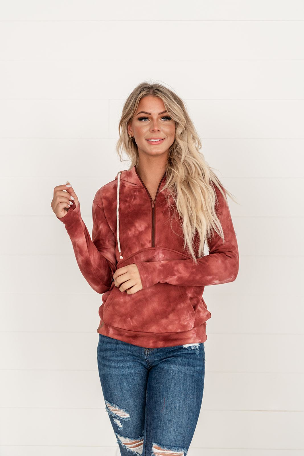 Ampersand Burgundy Hooded Sweatshirt