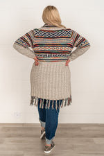 Load image into Gallery viewer, Aztec Dreams Fringe Cardigan