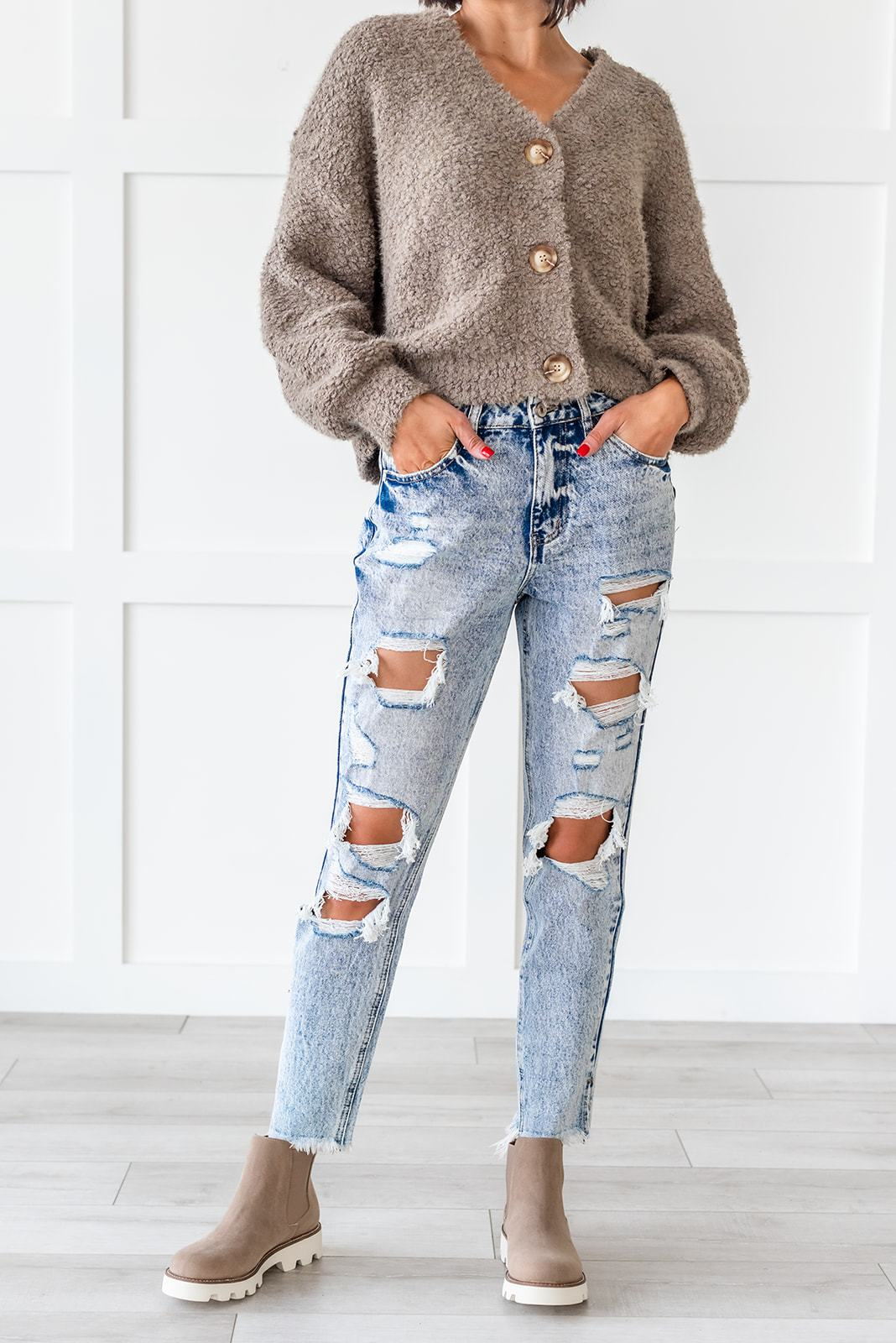 KanCan Stone Washed Distressed Jeans