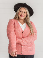 Load image into Gallery viewer, Pink Knit Cardigan