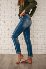 Load image into Gallery viewer, Kancan Straight Leg Button Fly Jeans